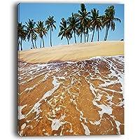 デザインアートトロピカルビーチwith Crystal Waters Large Seashoreキャンバス印刷、12x 20インチ