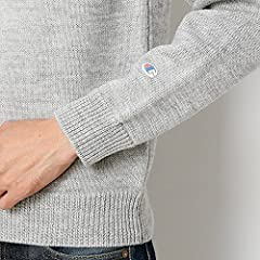 Middle Gauge Wool Crewneck Sweater 116-05-0081: Grey