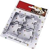 Liebeye クッキー型 4個入り パズルの形 抜き型 クリエイティブ ステンレススチール クッキーカッター 製菓 キッチン ベーキングツール