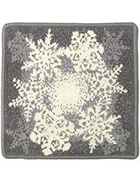 (アーンジョー) Enjeau ?スノウフレーク? ハンカチ クリスマス 限定 雪 結晶 グラデーション 日本製 タオル 23cm シェニール織 綿100% ギフト対応可