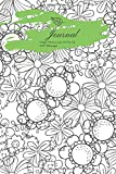 Journal Happy Flowers Line Art No. 03: Lined, Undated Floral Design Includes 12-Month Birthday Tracker