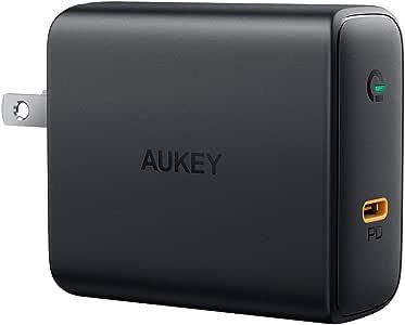 AUKEY 充電器 USB-C急速充電器 アダプタ 60W GaN (窒化ガリウム) 採用 折畳式/PD3.0対応 iPhone XS/XS Max/XR/X、GalaxyS9、MacBook Pro、iPad Pro、Nintendo Switch/iPhone 11/11 Pro/11 Pro Maxその他USB-C機器対応PA-D4【PSE認証済み】