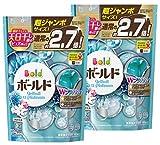 【まとめ買い】 ボールド 洗濯洗剤 液体 ジェルボール ダブルプラチナ プラチナホワイトリーフの香り 詰め替え 超ジャンボサイズ 940g (48個入)×2個