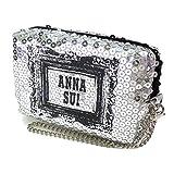 (アナスイ) ANNA SUI ポーチ 小物入れ スパンコール 銀 シルバー ロゴ 小 化粧 メイク コスメ 化粧 メイク コスメ