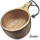 Dursten Lore 12オンス Kuksa | 手作り 伝統的な木製キャンプカップ | 軽量 & 環境に優しい | キャンプ バックパッキング ブッシュクラフト