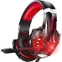 Bengoo ゲーミングヘッドセット ps4 ヘッドセット ヘッドホン マイク付き LED付き 3.5mm PS4 PC…