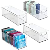 mDesign Plastic Home Storage Basket Bin with Handles for Organizing Closets, Shelves and Cabinets in Bedrooms, Bathrooms, Ent