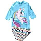 Hilor Women's UPF 50+ High Waisted Skirted Bikini Bottom Athletic Swim Skirt Swimdress