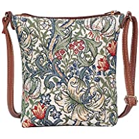 William Morris Golden Lily Sling Bag by Signare/Designer Ladies Crossbody Shoulder Art Handbag/SLING-GLILY