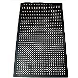 New Star 1 pc Heavy Duty Black 36x60 inch Restaurant/Bar Anti-Fatigue Rubber Floor Mat