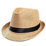 キャップ 帽子 Dafanet ストローハット メンズ 大きいサイズ ゴルフ ミックスペーパーハット メンズ レディース サイズ調節可 折りたたみ パナマ帽 麦わらハット 春夏 中折れ ハット リボン 日除け UVカット 紫外線対策 麦わら帽子