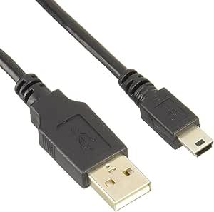 エレコム USBケーブル 【miniB】 USB2.0 (USB A オス to miniB オス) ノーマル 0.5m ブラック U2C-M05BK