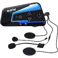 LX-B4FM バイク インカム 4riders 4人同時通話 FMラジ Bluetooth防水インターコ バイク用イン…