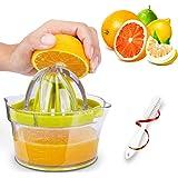 GEHARTY Citrus Juicer, Lemon Orange Juicer Lime Manual Press Hand Squeezer 4-in-1 Non-Slip Kitchen Fruit Juicer with Built-in