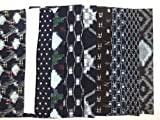 (ノーブランド品) 【【】】 【中古】 お買い得 古布絣セット 紺絣、白絣、藍染、布団側など 10枚1組 並幅X50cm ランクB