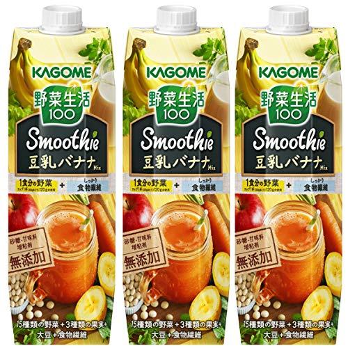 野菜生活100 スムージー 豆乳バナナ 1000g×3本