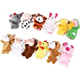 TOYANDONA 18pcs Finger Puppets Set 12 Animal 6 People Finger Puppets Kids Educational Toy for Baby Kids