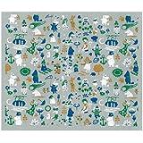 イーオクト スポンジワイプ ムーミン谷の仲間たちブルー Lサイズ グレー  WX161005