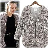 レデイーウェア& 暖かいコート ふわふわ 韓国風 素敵 ファッション4色S-XL 1点 M ベージュ 【1点】