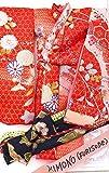 ファッション人形ハンドメイドレッド/シルバーシルクKimono–( Kiddyland–東京–1990's )