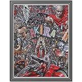 油絵 Akira アートパネル 現代絵画 モダンアート ウォールアート インテリアアート キャンバスアート キャンバス寝室の装飾風景 壁の絵 絵画部屋飾り壁アート40x50cm(フレームレス)