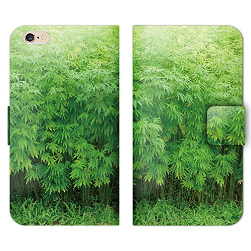 フラワー 手帳型 HUAWEI P9 EVA-L09 (P000803_01) 大麻 草 マリファナ 麻 畑 スマホケース その他 SIMフリー