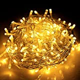 Jingle Jollys 500 LED 105M Christmas String Lights Xmas Waterproof Outdoor Indoor For Christmas, Party, Birthday, Wedding, Holiday, Home Decoration, Garden, Cmaping 8 Lighting Modes Warm White