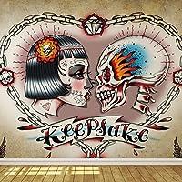 スカルハートTattoo壁紙壁画 XX-Large - 368 cmx258 cm (WxH) 1350P8