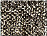 スパンコール/黒地にゴールド 生地50cm単位 3ミリスパンコール8色  メルヘン 【1103-3】