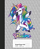 Graph Paper 5x5: CLAIRE Unicorn Rainbow Notebook (Weezag Graph Paper 5x5 Notebook)