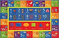 Kev & Cooper Playtime Collection ABC Numbers and Shapes Educational Area Rug - 3'3 x 4'7 [並行輸入品]