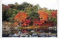 トーマス・キンケードことで秋のレーンのティンサイン 金属看板 ポスター / Tin Sign Metal Poster of Autumn Japan 2