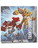 "Mighty Transformers誕生日パーティーLuncheon Napkins、16パック、ブルー、61/ 2"" x 61/ 2インチ、用紙"