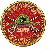 アメリカ海兵隊 教育隊 U.S. MARINE CORPS DRILL INSTRUCTOR ベルクロ ミリタリーパッチ