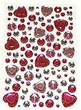 [ARTASY WORKSHOP®][並行輸入品] キラキラステッカー カラフル 可愛い ラインストーン ダイヤモンド 手作り 紙 レター 手紙シール デコレーション 飾り Rhinestone Sticker (ハート009)