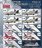 エフトイズ ハイスペックシリーズ vol.3 1/144 F-22 ラプター / F-16 ファイティングファルコン 半完成組立キット 10個入り BOX FT60562