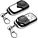 2Pcs Garage Door Remote, Universal Replacement Electric Cloning Car Gate Opener Wireless Remote Control Key Fob 433mhz