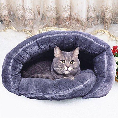 Miaotech ペットベッド ペットソファ ペットハウス ベッド・クッション 猫犬小動物用 室内用厚み 暖かい 冬 (S)