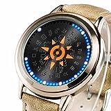 腕時計 ウォッチ タッチ デジモンアドベンチャー アニメグッズ 防水 LED コスプレ道具 小物 誕生日 ギフト プレゼント mxys62s (ゴールド)