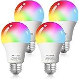 Smart WiFi Alexa Light Bulb, Peteme Led RGB Color Changing Bulbs, Compatible with Alexa, Siri, Echo, Google Home (No Hub Requ