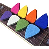 JVSISM Ukulele Picks Felt Picks/Plectrums for Ukulele and Guitar,8 Pieces Guitar Picks,Multi-Color