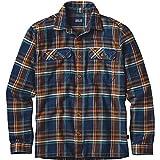 【正規取扱店製品】patagonia パタゴニア ロングスリーブフィヨルドフランネルシャツ男性用 54130 ブルーオックス:ネイビーブルー XL