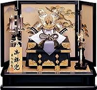 人形工房天祥 五月人形 盛上シルバー竜虎兜飾り 間口65×奥行40×高さ57cm kt-a-283