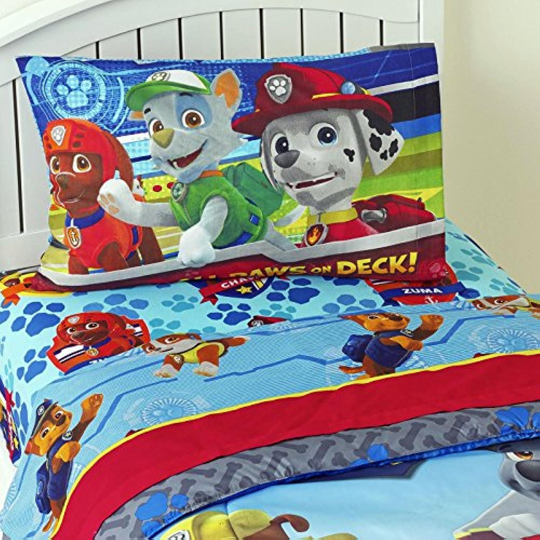 [ニコロデオン]Nickelodeon Children Bedding Set 3 Piece Kids Sheet Set PAW Patrol Twin Sheet Set [並行輸入品]