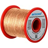 """BNTECHGO 28 AWG Magnet Wire - Enameled Copper Wire - Enameled Magnet Winding Wire - 1.0 lb - 0.0126"""" Diameter 1 Spool Coil Na"""
