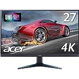Acerゲーミングモニター VG270Kbmiipx 27インチ IPS 非光沢 3840x2160 4K 60Hz 300cd 4ms Free-Sync HDMI DisplayPort