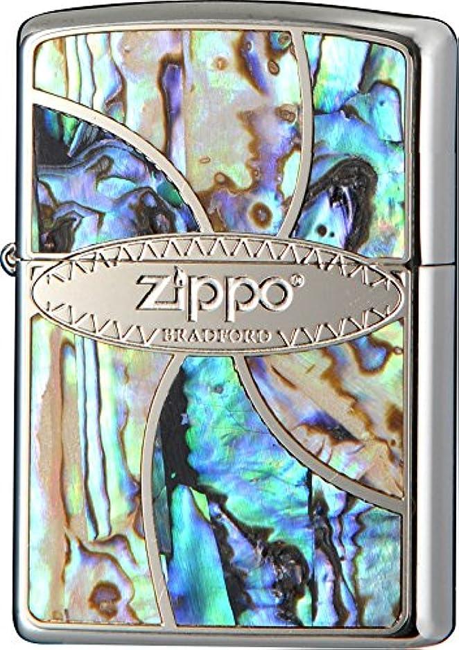 水っぽいクランプ上がるZIPPO(ジッポー) ライター シェル インレイ 貝貼り クローム サテーナ 2M-ZSHELL