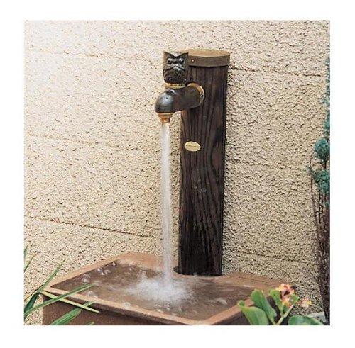 カクダイ エコ水栓柱 焼丸太 6242-900