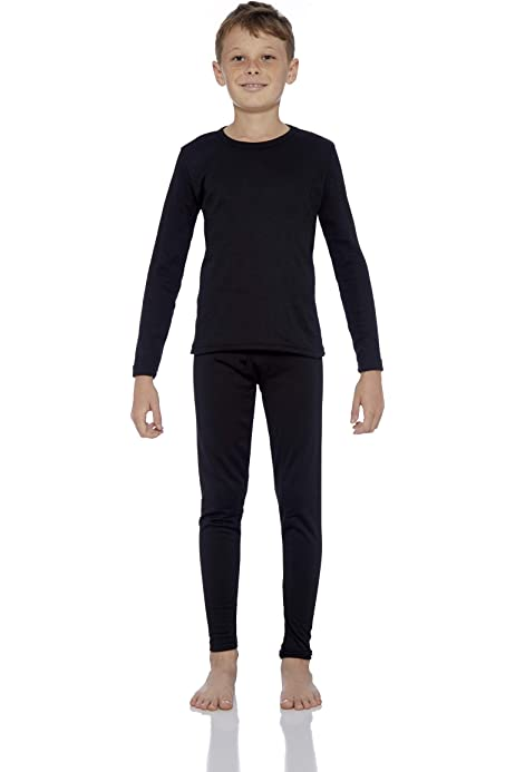 Hanes Boys Tagless Baselayer Crew /& Pant Set