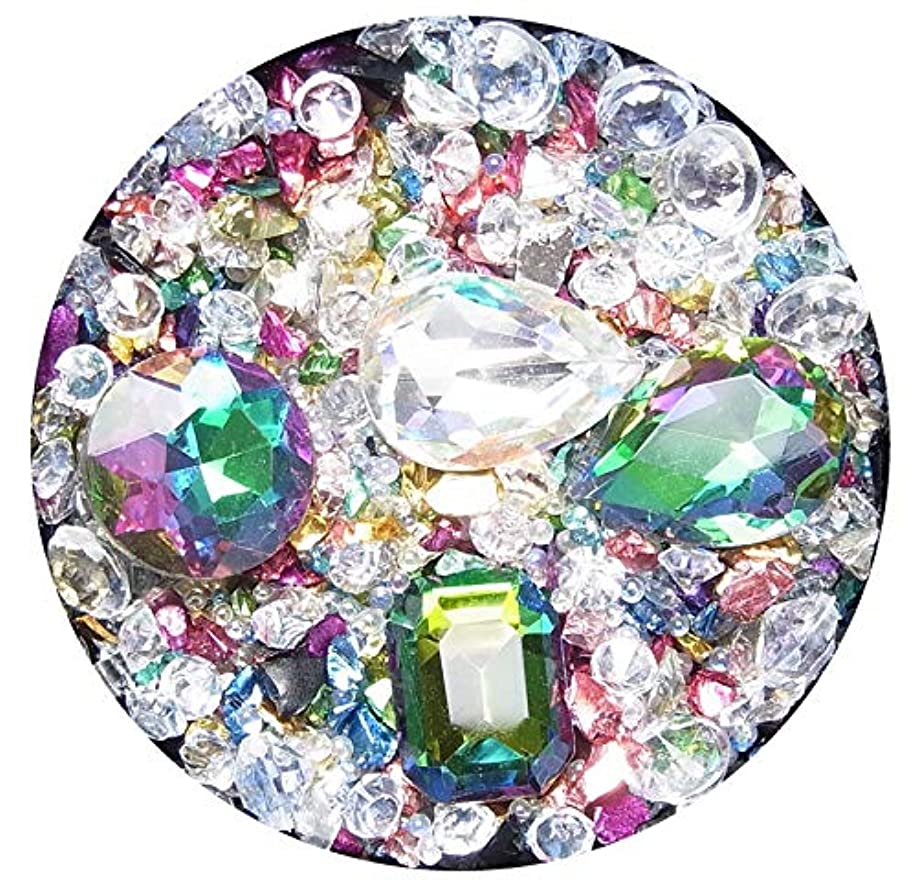 空いている効果的に終了する【jewel】高品質ラインストーンミックス マジョーラカラー ブリオン レインボーミックス (1)